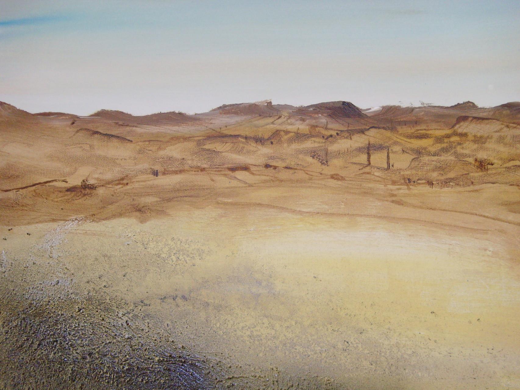 40cm x 80cm, Toscana auf Leinwand, Materialmix