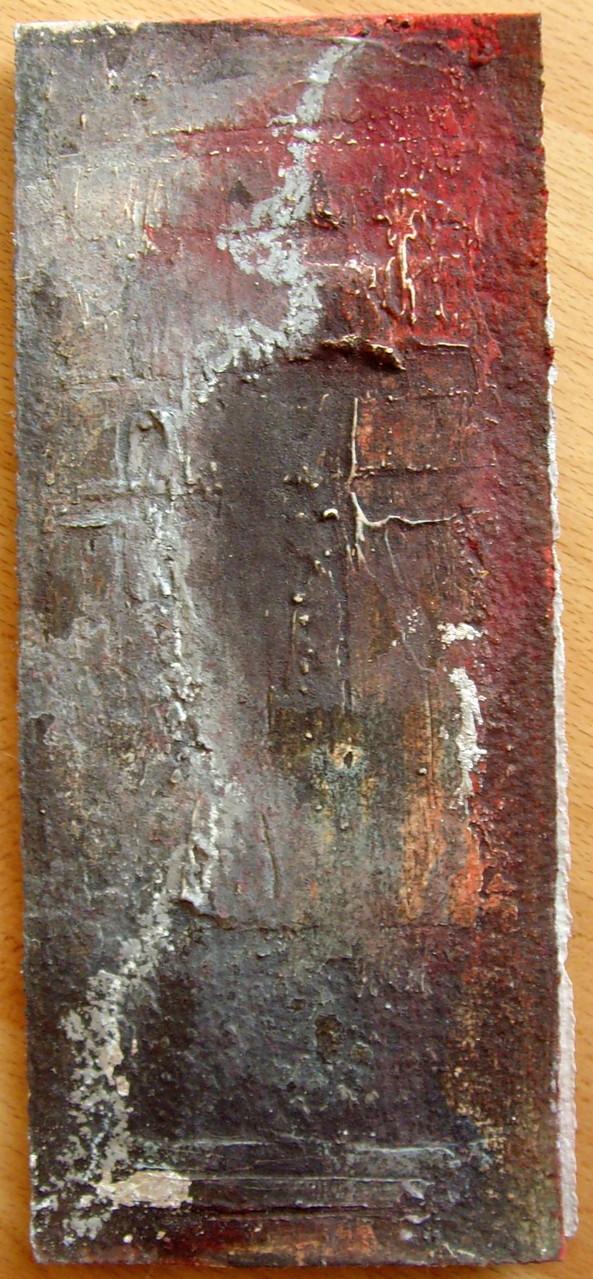 22cm x 9cm, Klappkarte, Materialmix