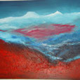 Bergwelt, 60cm x 80cm, Acryl auf Leinwand