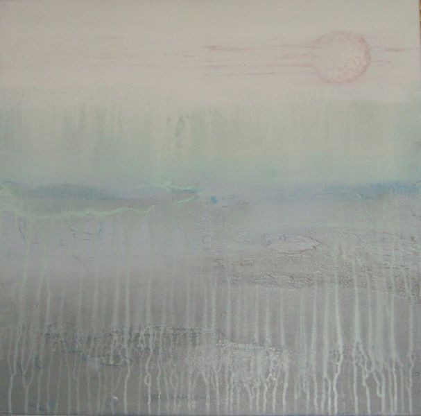 60cm x 60cm, Nebelschwaden, Acryl auf Leinwand