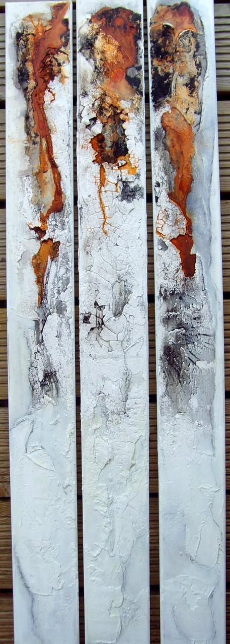 3 x Kunst am Stück, 1m x 10cm, Mixed Media