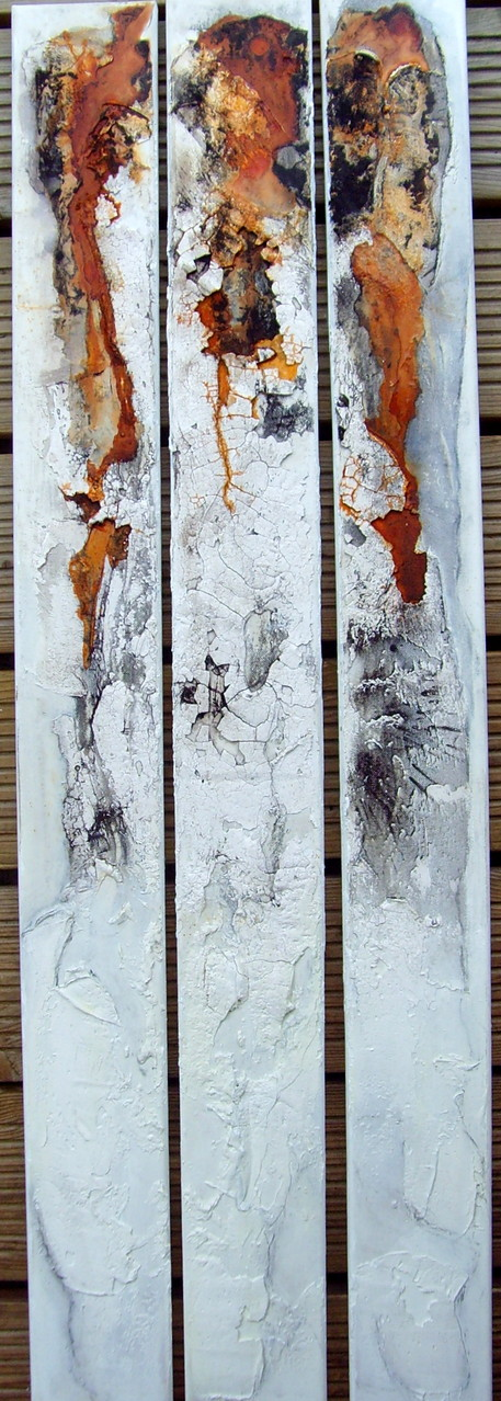 3 x Kunst am Stück, 1m x 10cm, Mixed Media