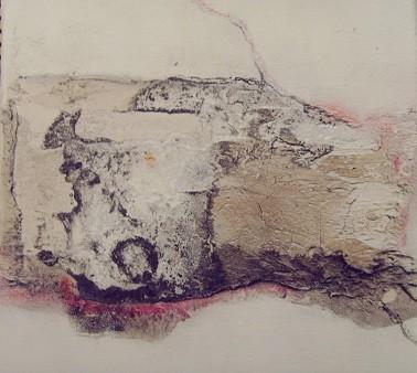 N°11 - 20cm x 20cm Materialmix auf Leinwand