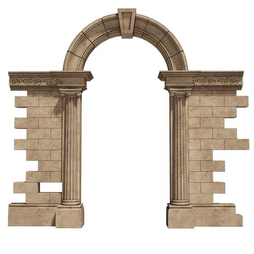 Encadrement de porte en pierre naturelle