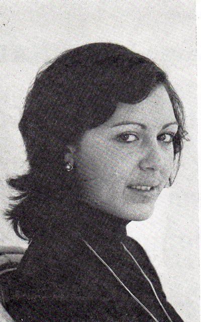 Marivi Barberá Rey. Cort de la Fallera Major de València 1976.