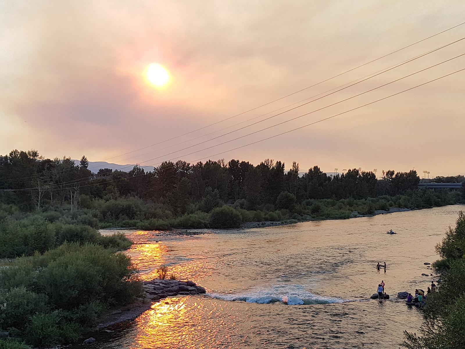 La Clark Fork River qui traverse Missoula