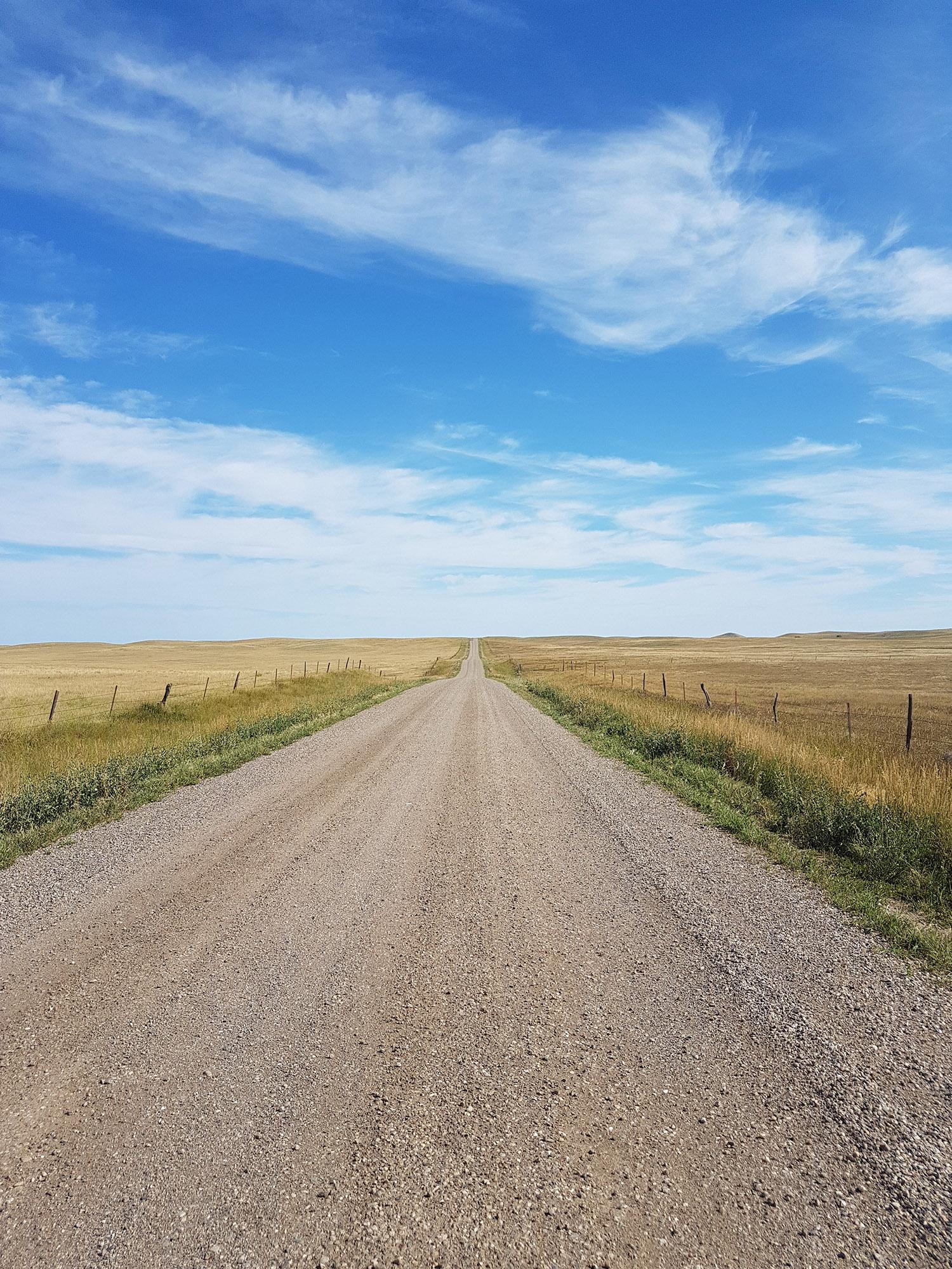 La route qui repart du ranch