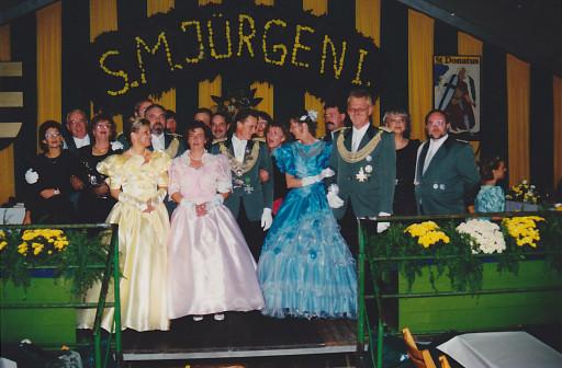 v.l.n.r.: Edeltraut (gelbes Kleid) & Leo Oks, Marie-Luise & Jürgen Kätow, Annemie & Albrecht Faust