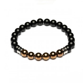 Bracelet Pierre naturelle Melas black/Copper 39.95€