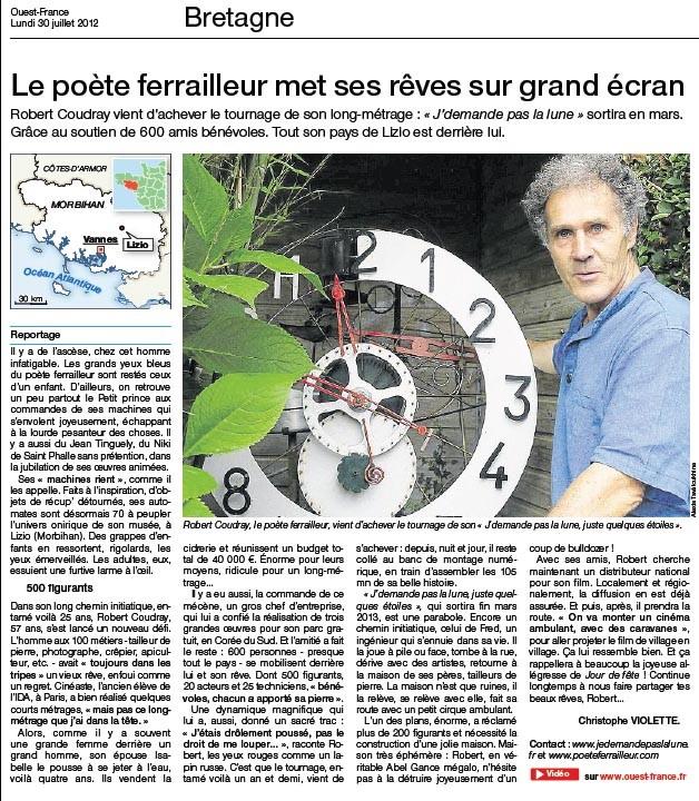 Ouest France _ 30 juillet 2012
