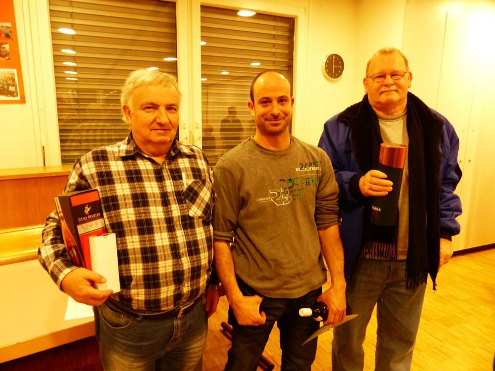 2ème Mauron Henri, 1ère Steve Favre et 3ème Teutsch Rudolf