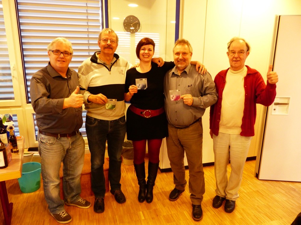 Gagnants Tombola : 2ème Pierre-Alain Duc, 1ère Sophie Rosset et 3ème Jassniker Hasnpeter