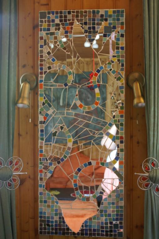 Mosaikspiegel aus Glas