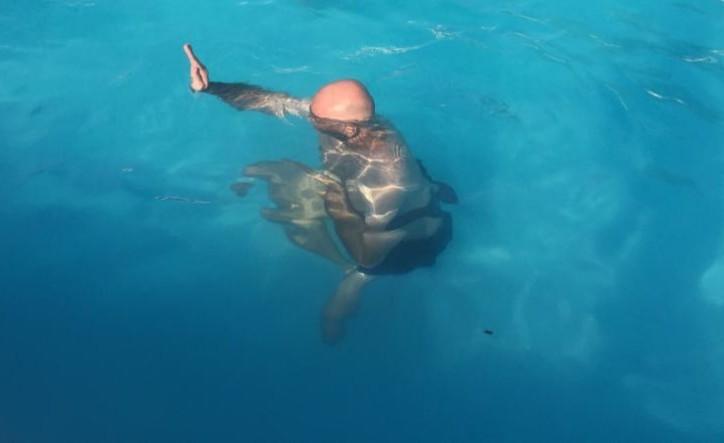 jean françois sous l'eau....