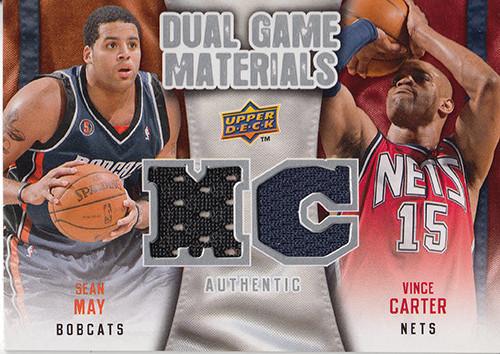 2009-10 Upper Deck Game Materials Dual #DGCM Sean May Vince Carter