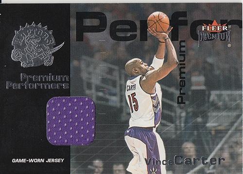 2001-02 Fleer Premium Solid Performers Premium Jerseys #VC Vince Carter