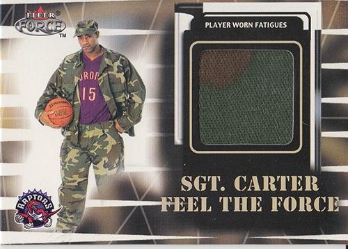 1999-00 Fleer Force #NNO Vince Carter/Sgt.Carter Jersey