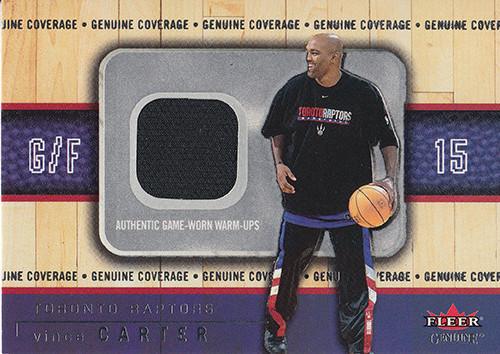 2002-03 Fleer Genuine Coverage #1 Vince Carter
