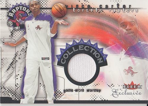 2001-02 Fleer Exclusive Vinsanity Collection #3 Vince Carter Warm
