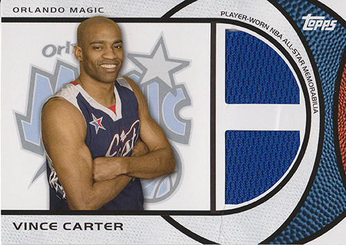 2009-10 Topps All-Star Relics Dual #ASDVC Vince Carter