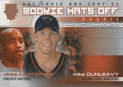2002-03 Fleer Hot Shots Hot Hands #198 Mike Dunleavy Vince Carter