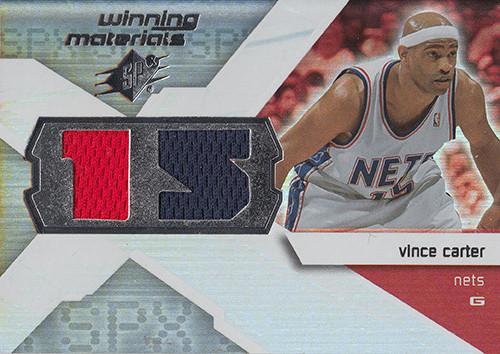 2008-09 SPx Winning Materials Jersey Numbers #WMJVC Vince Carter
