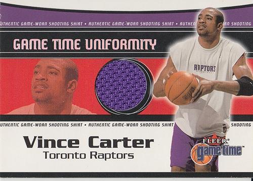 2000-01 Fleer Game Time Uniformity #3 Vince Carter