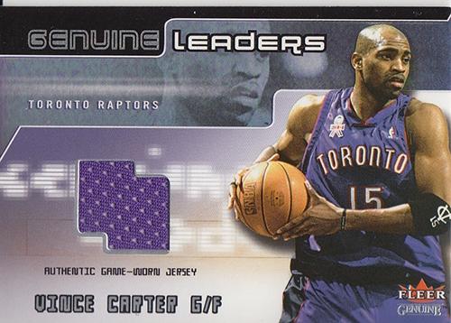 2002-03 Fleer Genuine Leaders Jerseys #4 Vince Carter