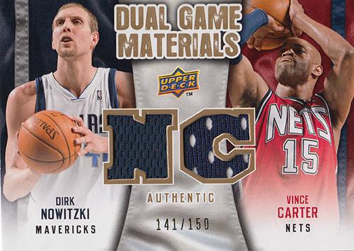 2009-10 Upper Deck Game Materials Dual Gold #DGCN Dirk Nowitzki Vince Carter