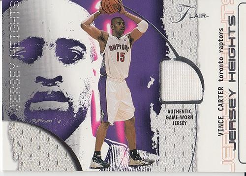 2001-02 Flair Jersey Heights #13 Vince Carter