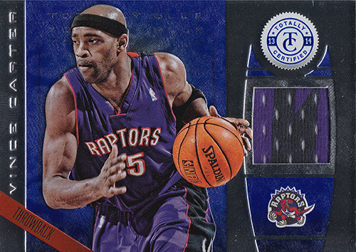 2013-14 Totally Certified Materials Blue #175 Vince Carter