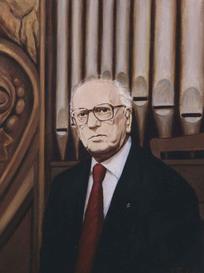 Ritratto del Maestro Giuseppe Tedeschi olio su tela 45 x 65