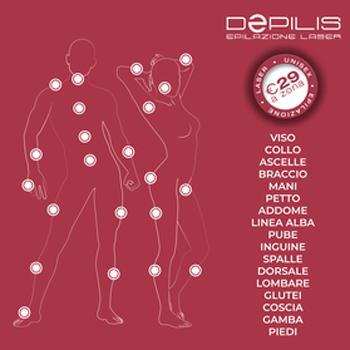 zone epilazione laser diodo depilis