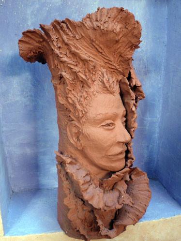 esprit de la nature, modelage en terre