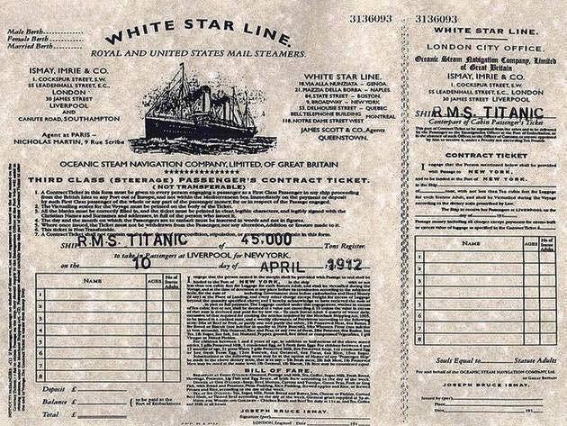 Biglietto del Titanic