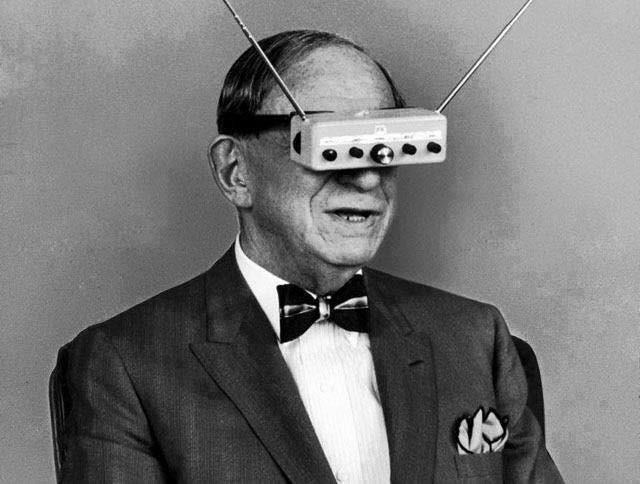 Hugo Gernsback e il suo televisore portatile nel 1963