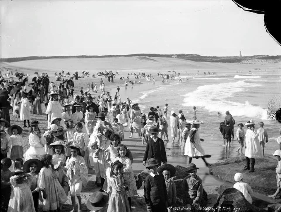 Una spiaggia di Australia nel 1900