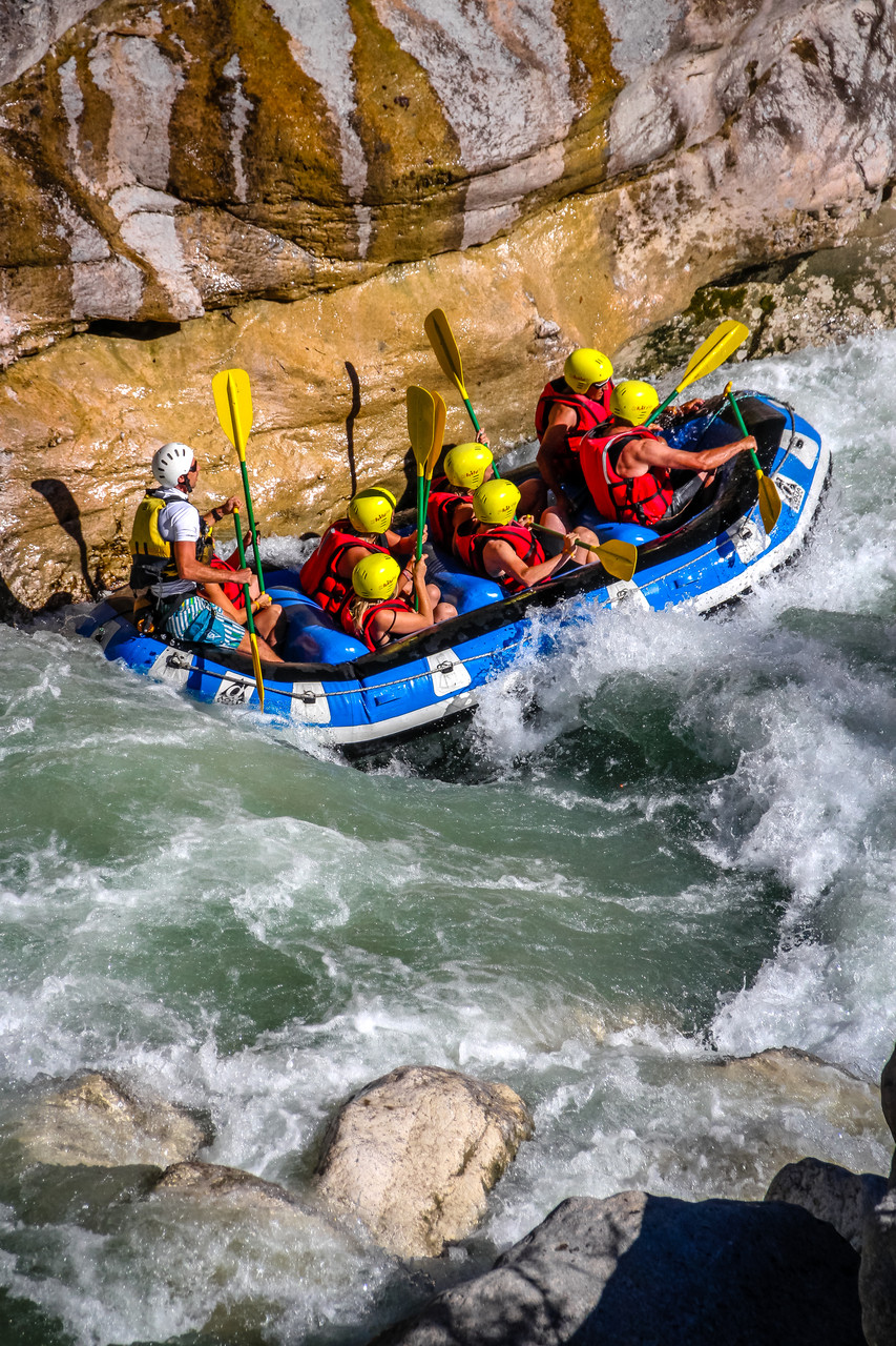 Rafting Verdon entrée Grand Canyon