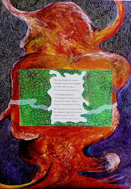 Hommage à Alfred Campozet , 50x70 cm, acrylique et huile sur lin. 2011
