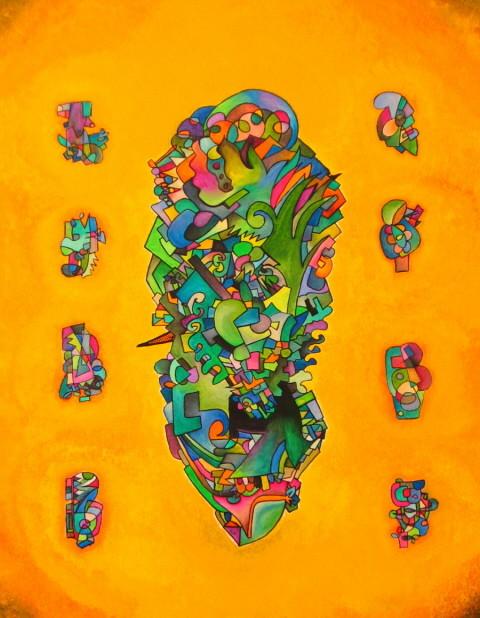 Intento de lucidez (Essai de Lucidité) 92x75 cm, 2008, acrylique sur toile.