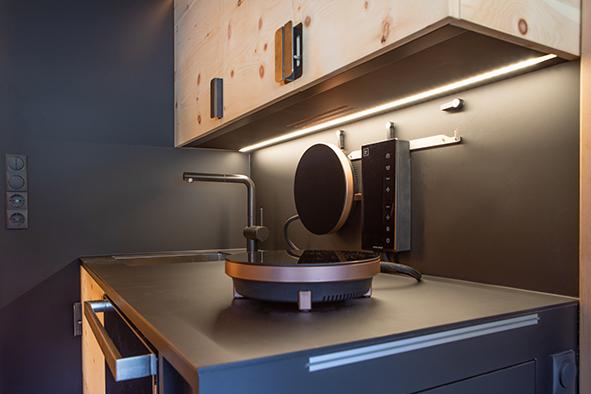 Kochen mit Induktionssystem in der Zirbenbox | alternativ mit Gas