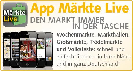 zum Download der Märkte Live App