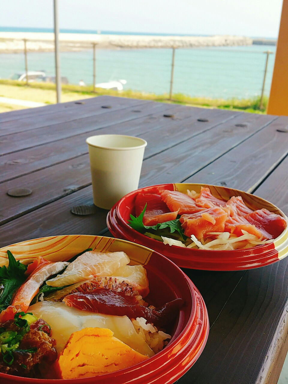 2019 GW 海 海岸 海鮮丼 まぐろ丼 リフレッシュ