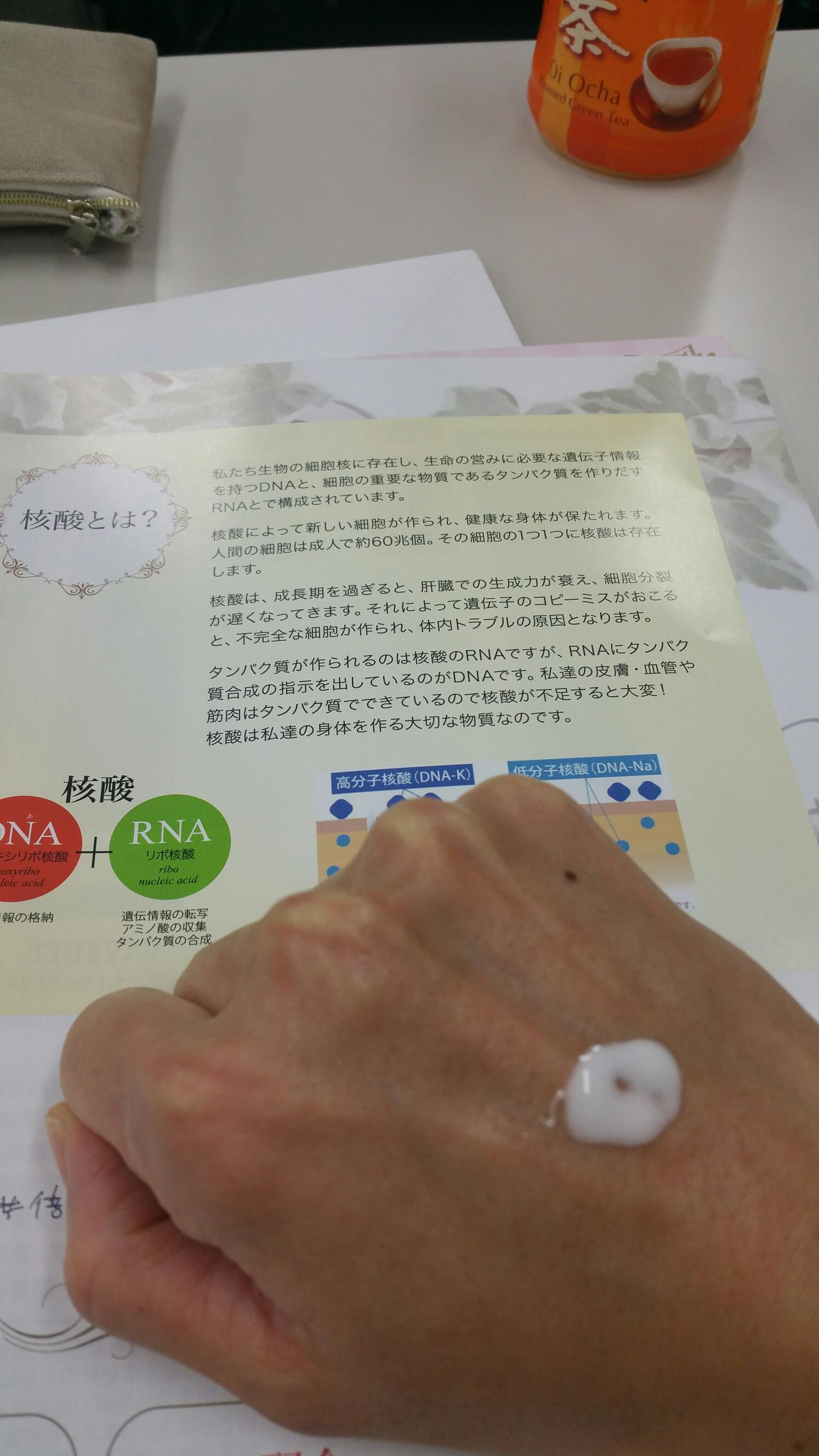 核酸DNA美容セミナー ボンバークリーム