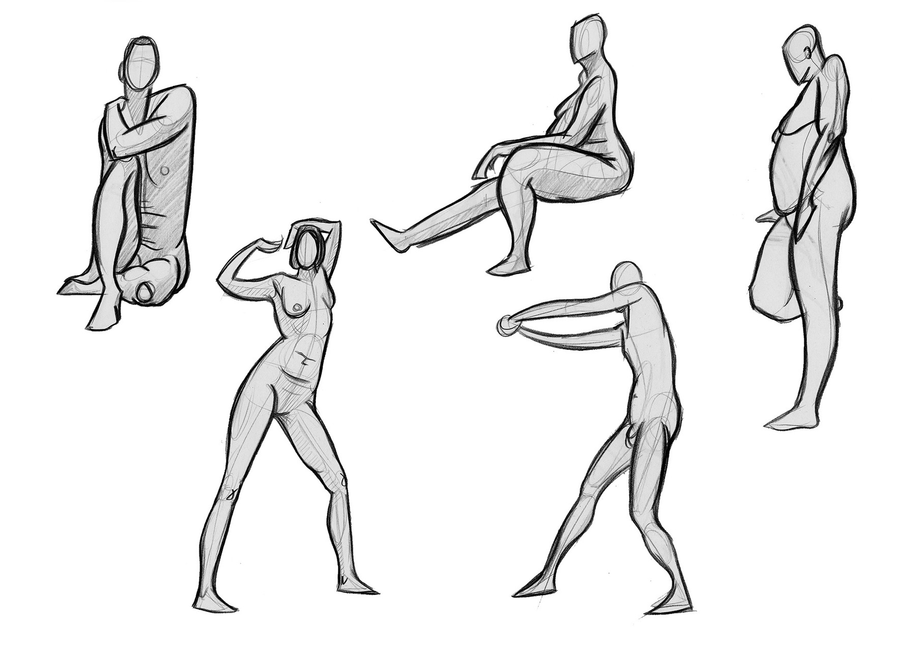 2 minutes poses