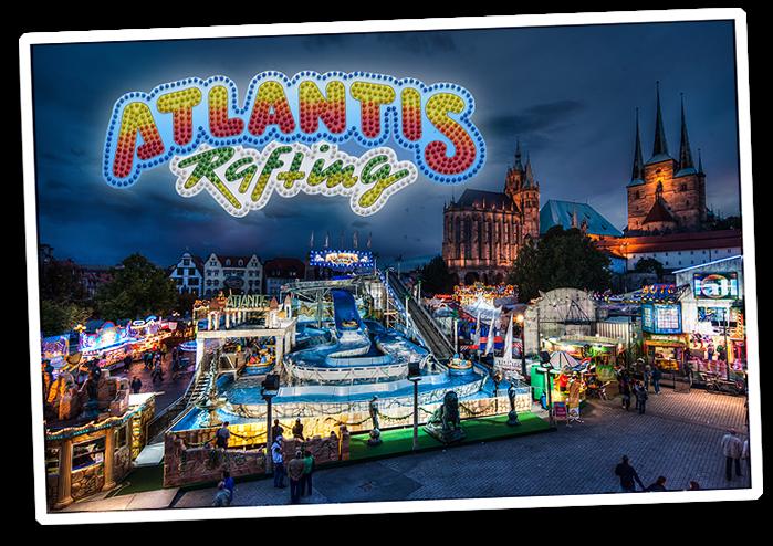 ATLANTIS RAFTING - DIE Jahrmarkts-/Kirmes-Wildwasserbahn: Eine spritzig schwungvolle Wildwasser-Erlebnisfahrt für die gesamte Familie! Foto: Matthias Schmidt, Erfurt