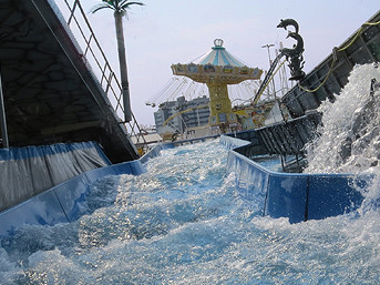 ATLANTIS RAFTING - DIE Jahrmarkts-/Kirmes-Wildwasserbahn: ein Abenteuer wie aus tausendundeiner Nacht