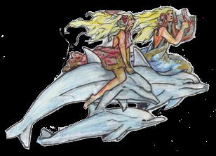 ATLANTIS RAFTING - DIE Jahrmarkts-/Kirmes-Wildwasserbahn: Tolle Entwürfe - hier die Delfinreiterinnen