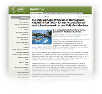 ATLANTIS RAFTING Wildwasserbahn - Pressemeldung / Newsmax