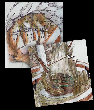 ATLANTIS RAFTING - DIE Jahrmarkts-/Kirmes-Wildwasserbahn: Zeichnerische Entwürfe